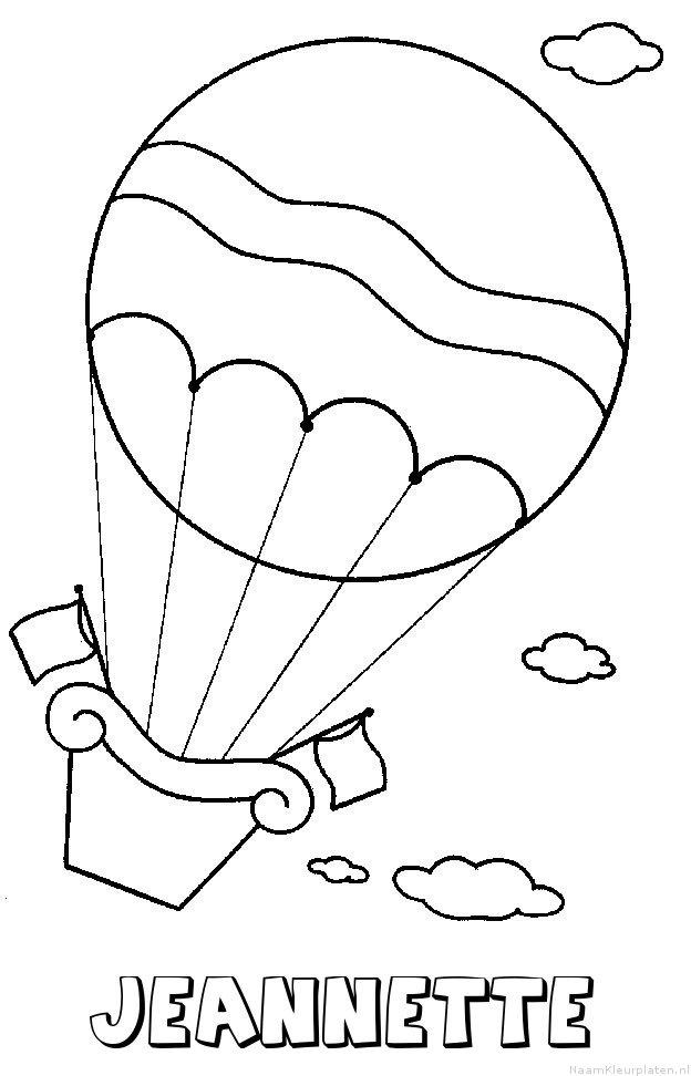 Jeannette luchtballon kleurplaat