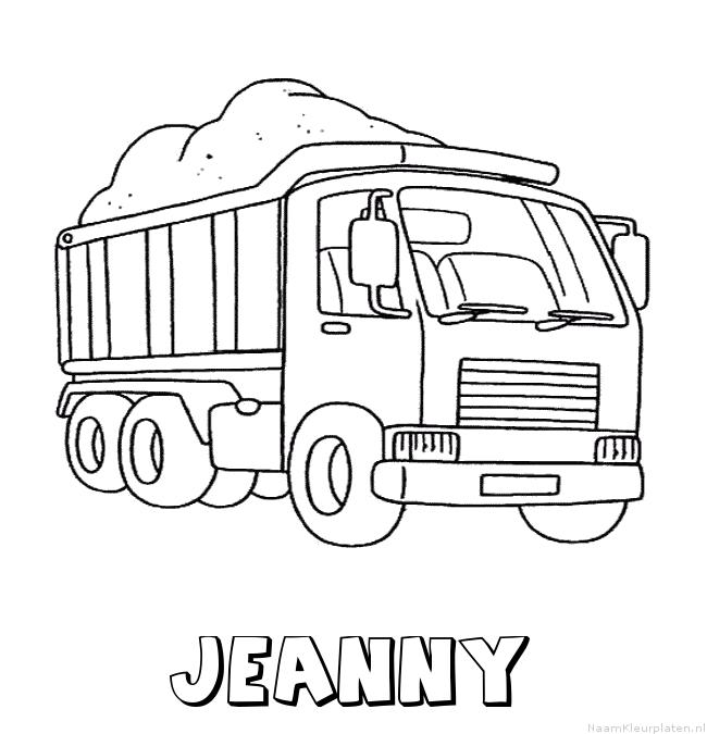 Jeanny vrachtwagen kleurplaat