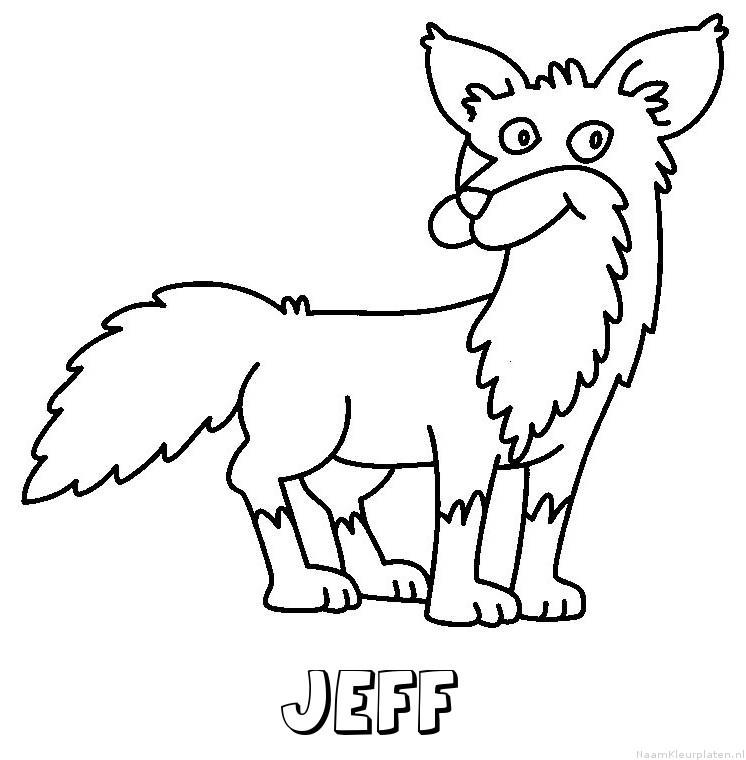 Jeff vos kleurplaat
