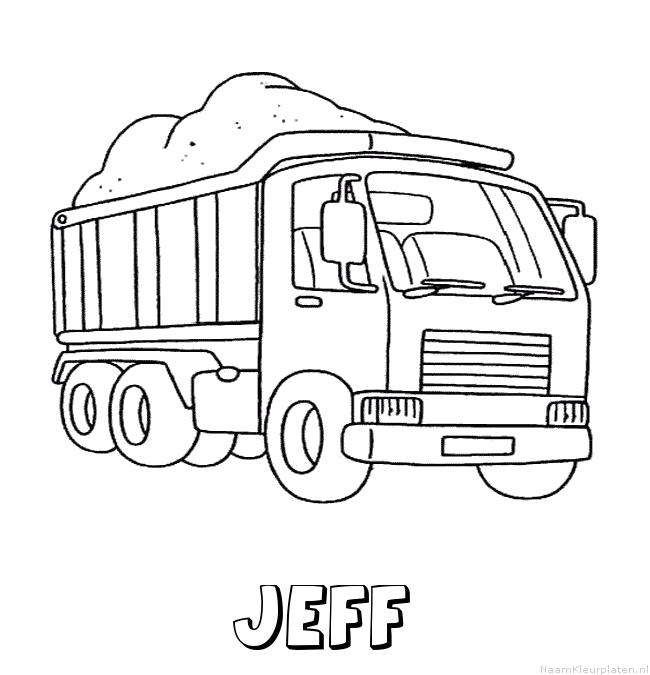 Jeff vrachtwagen kleurplaat