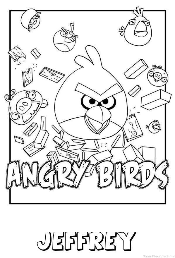 Jeffrey angry birds kleurplaat