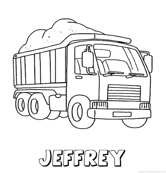 Jeffrey vrachtwagen kleurplaat