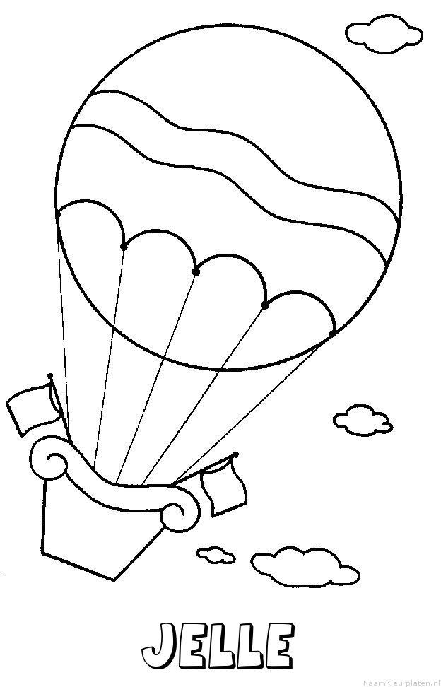 Jelle luchtballon kleurplaat