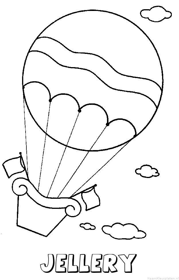 Jellery luchtballon kleurplaat