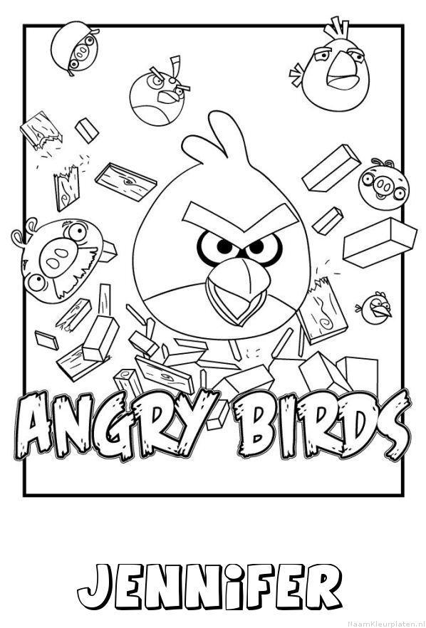 Jennifer angry birds kleurplaat