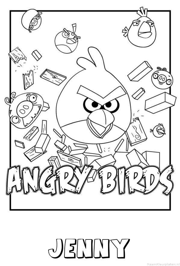 Jenny angry birds kleurplaat