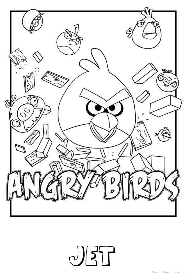 Jet angry birds kleurplaat