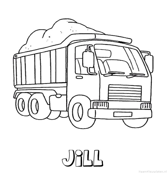 Jill vrachtwagen kleurplaat