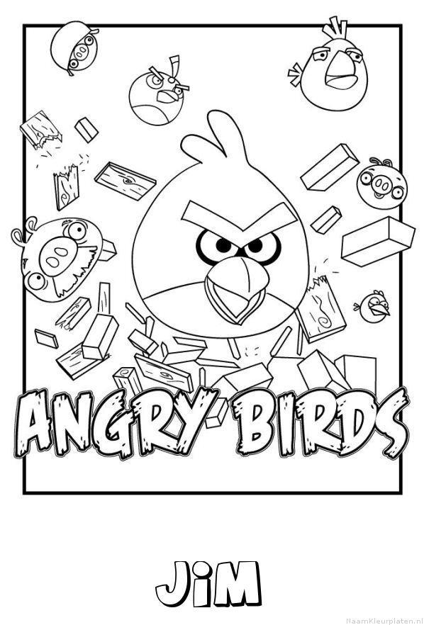 Jim angry birds kleurplaat