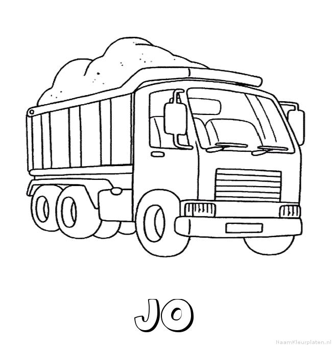 Jo vrachtwagen kleurplaat