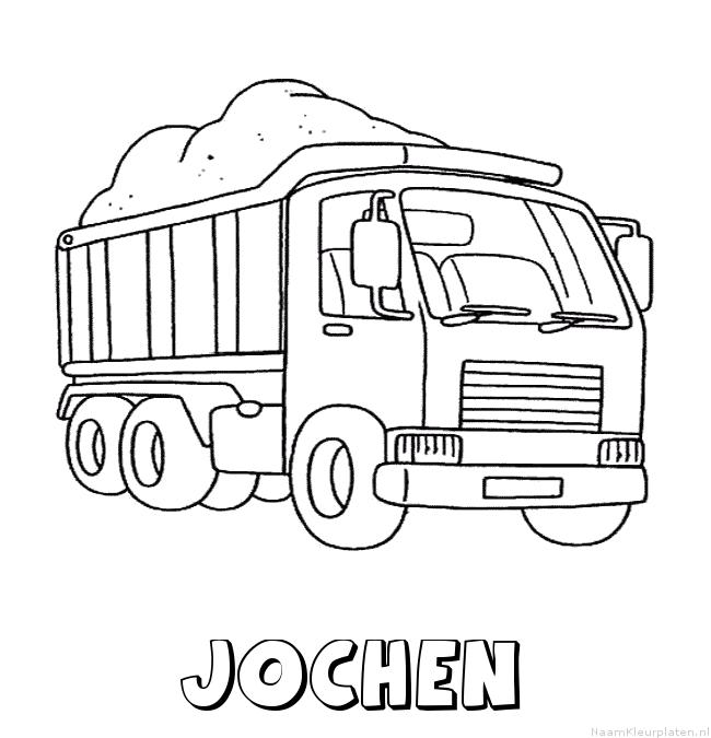 Jochen vrachtwagen kleurplaat