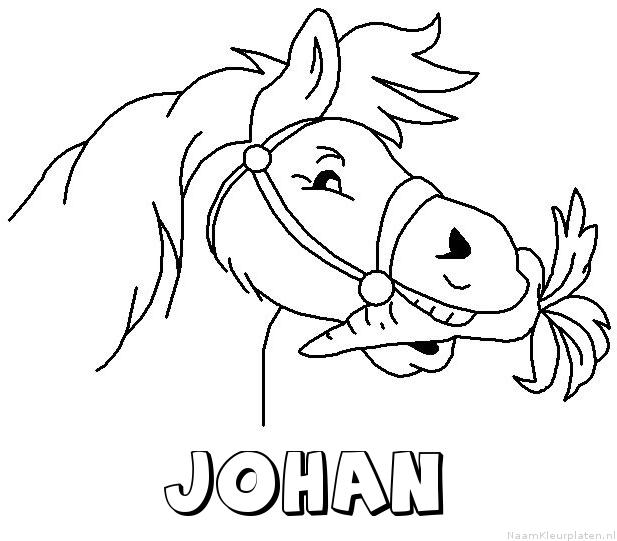 Johan paard van sinterklaas kleurplaat
