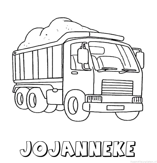 Jojanneke vrachtwagen kleurplaat