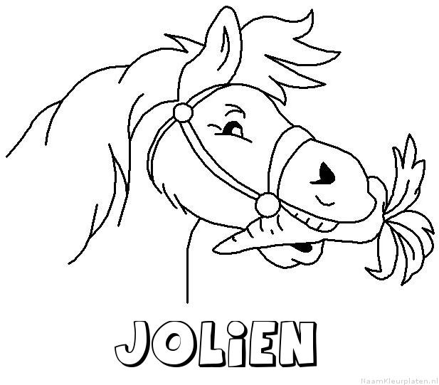 Jolien paard van sinterklaas kleurplaat