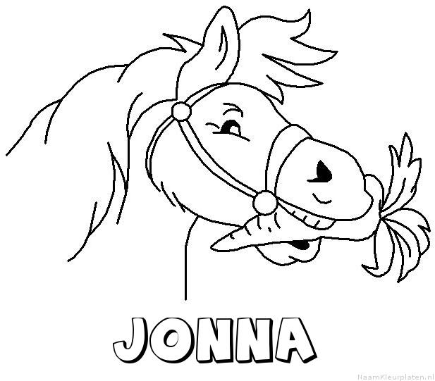 Jonna paard van sinterklaas kleurplaat