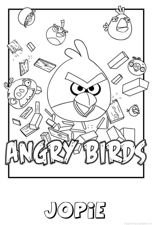 Jopie angry birds kleurplaat