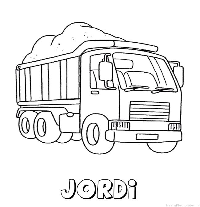 Jordi vrachtwagen kleurplaat
