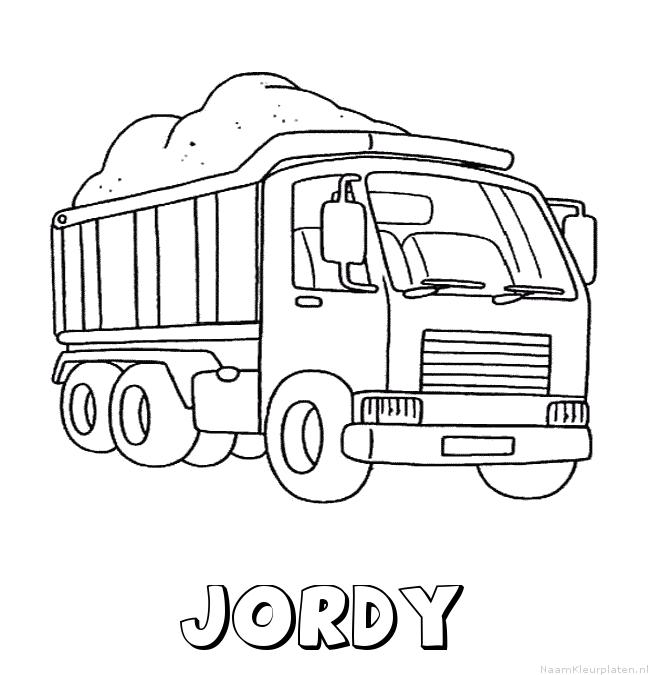 Jordy vrachtwagen kleurplaat
