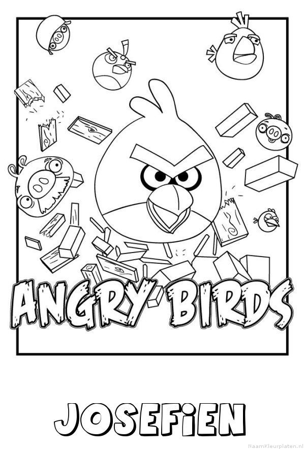 Josefien angry birds kleurplaat