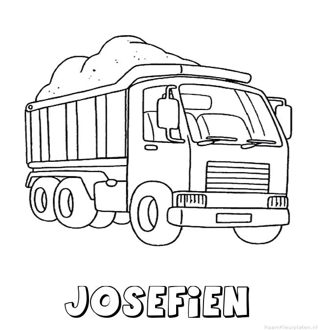 Josefien vrachtwagen kleurplaat