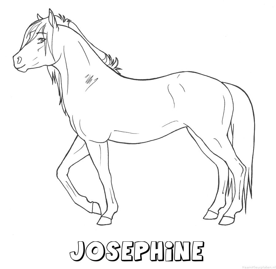 Josephine paard kleurplaat