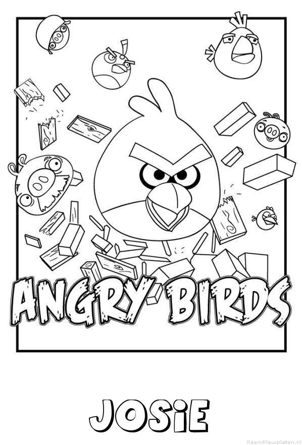 Josie angry birds kleurplaat