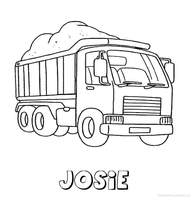 Josie vrachtwagen kleurplaat