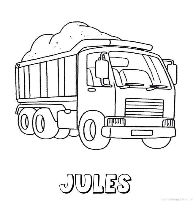 Jules vrachtwagen kleurplaat