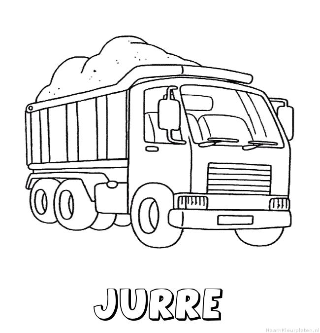 Jurre vrachtwagen kleurplaat