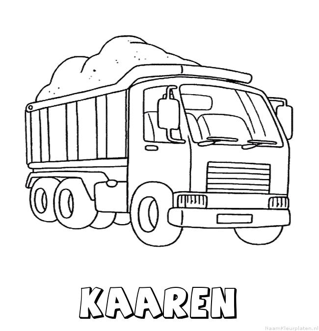 Kaaren vrachtwagen kleurplaat