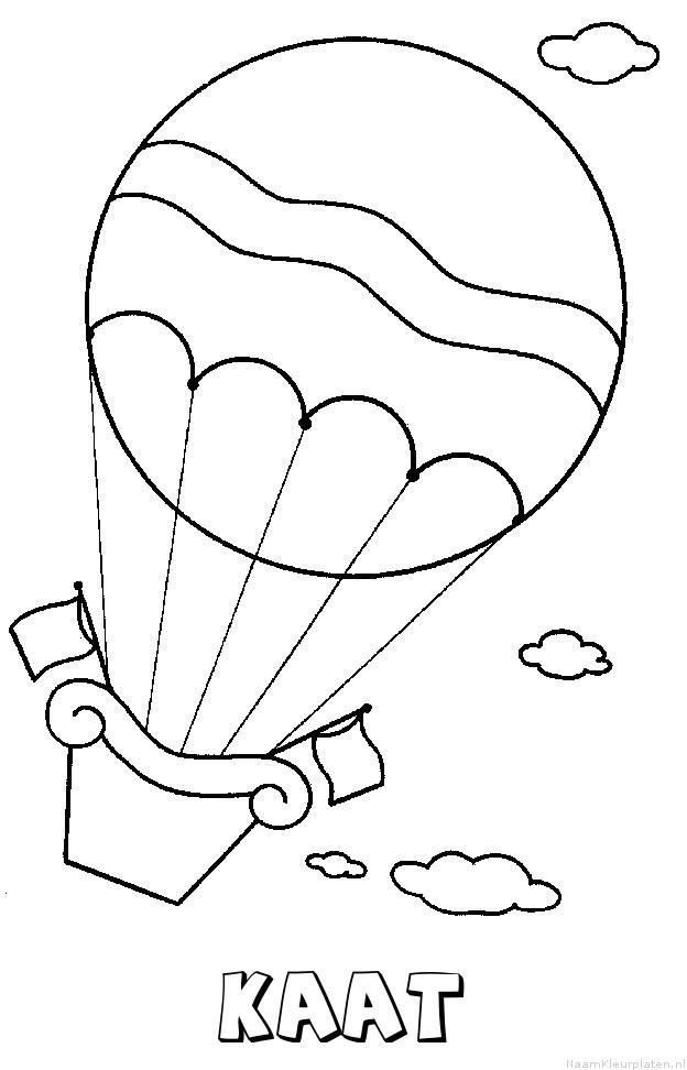 Kaat luchtballon kleurplaat