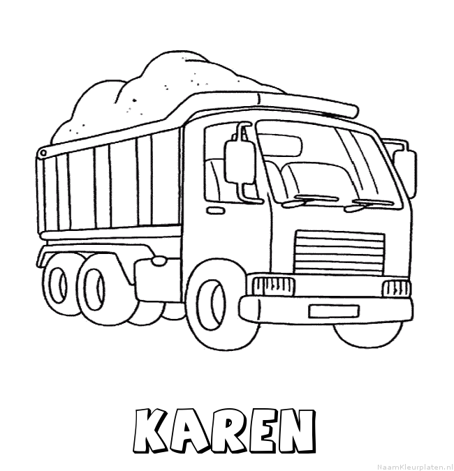 Karen vrachtwagen kleurplaat
