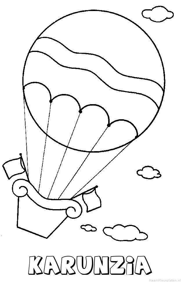 Karunzia luchtballon kleurplaat