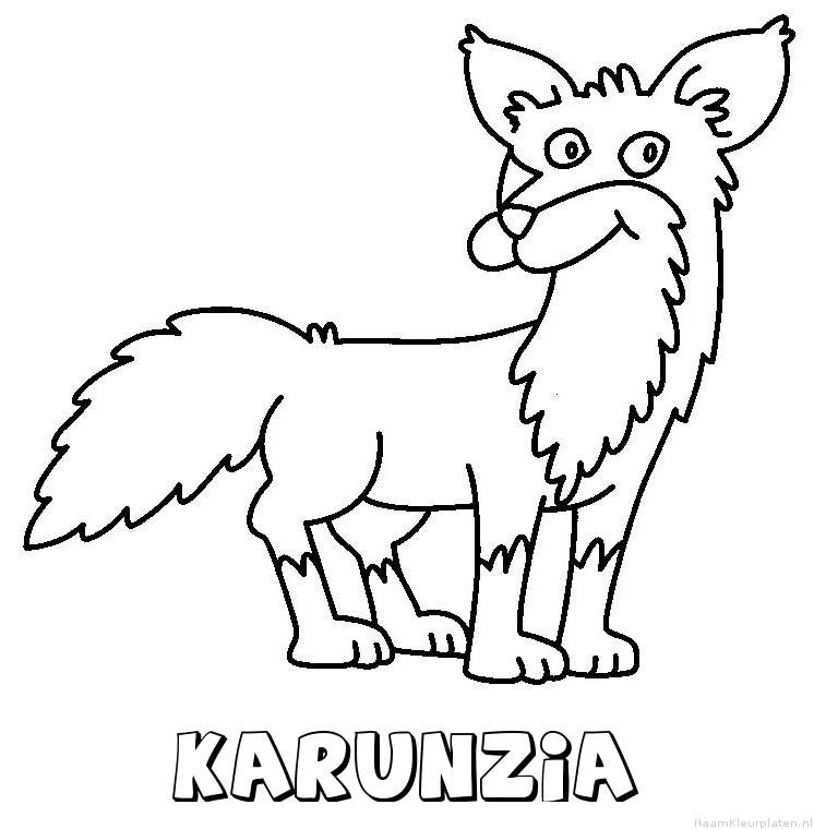 Karunzia vos kleurplaat