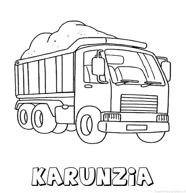 Karunzia vrachtwagen kleurplaat