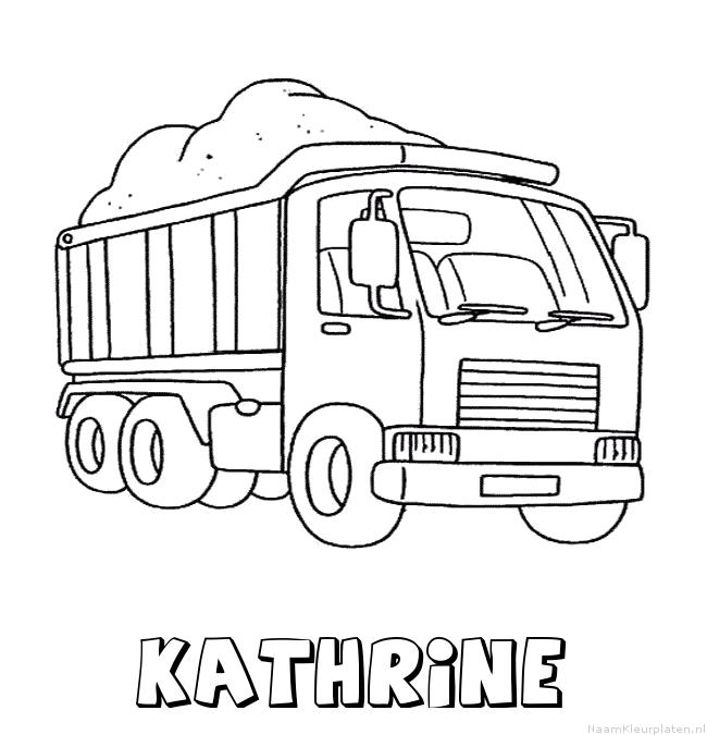 Kathrine vrachtwagen kleurplaat