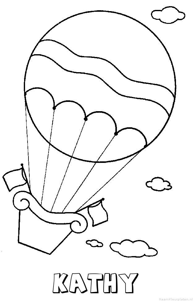Kathy luchtballon kleurplaat