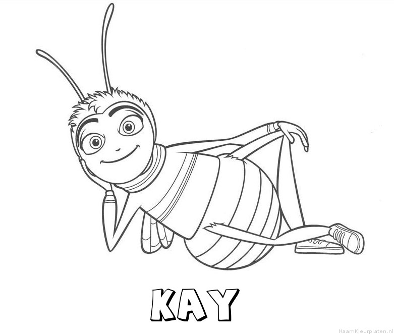 Kay bee movie kleurplaat