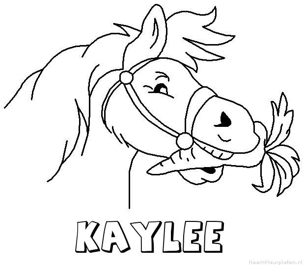 Kaylee paard van sinterklaas kleurplaat
