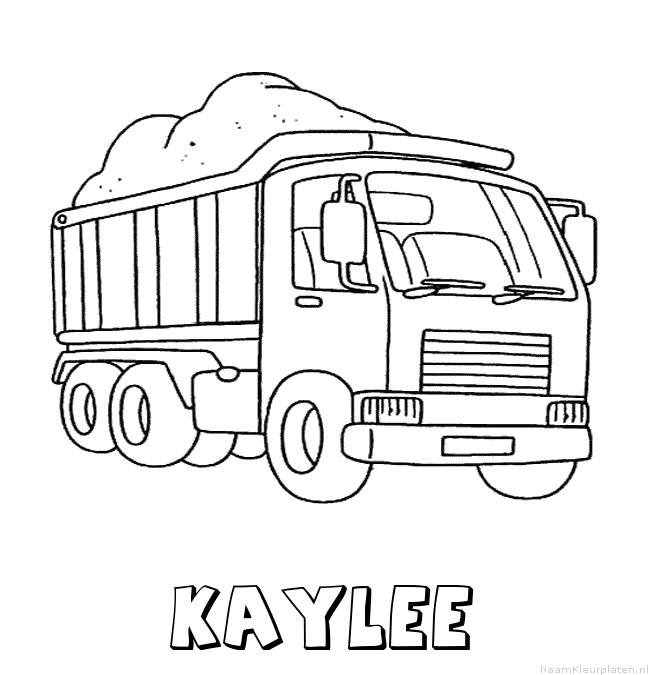 Kaylee vrachtwagen kleurplaat