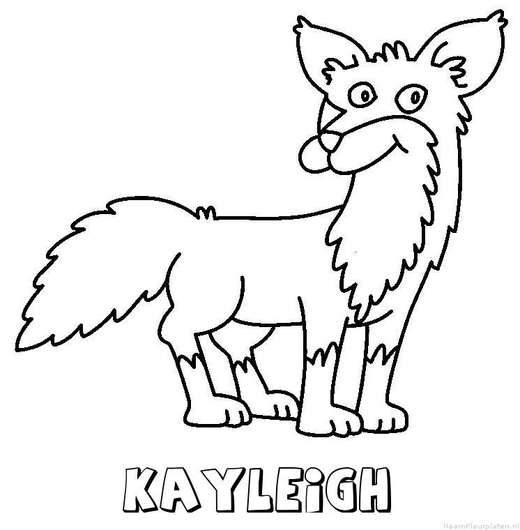 Kayleigh vos kleurplaat