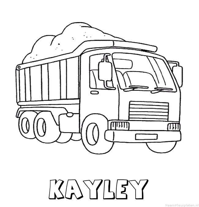 Kayley vrachtwagen kleurplaat