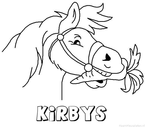 Kirbys paard van sinterklaas kleurplaat