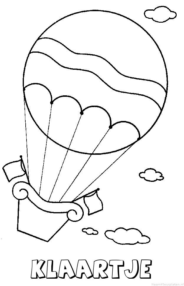Klaartje luchtballon kleurplaat