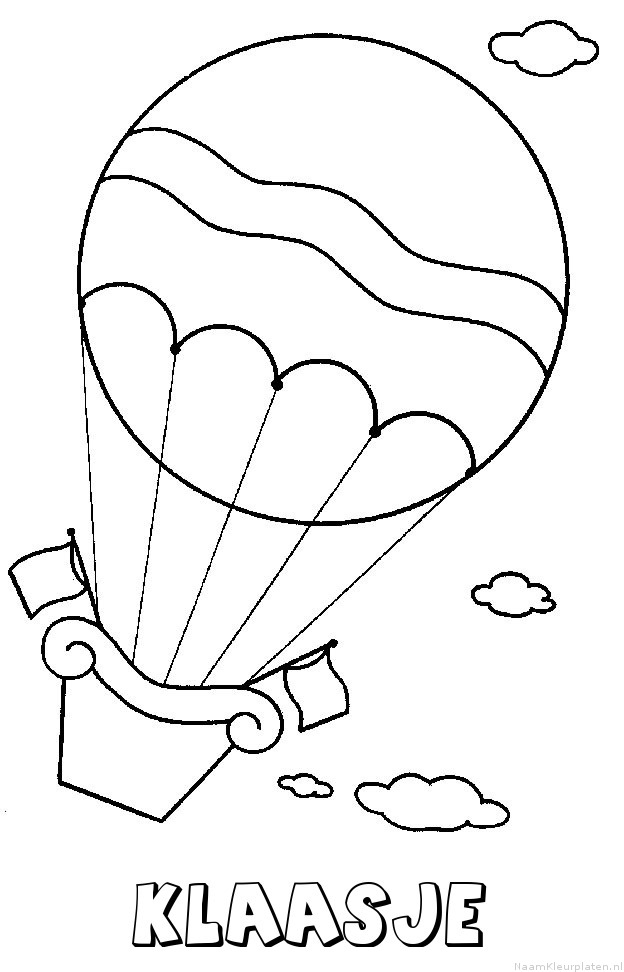 Klaasje luchtballon kleurplaat