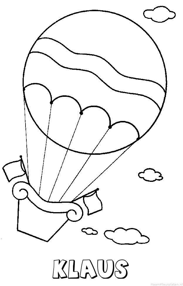 Klaus luchtballon kleurplaat