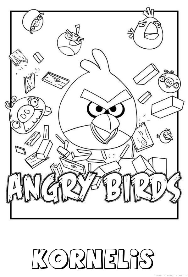 Kornelis angry birds kleurplaat