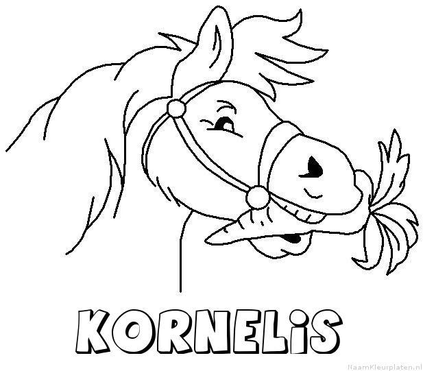 Kornelis paard van sinterklaas kleurplaat