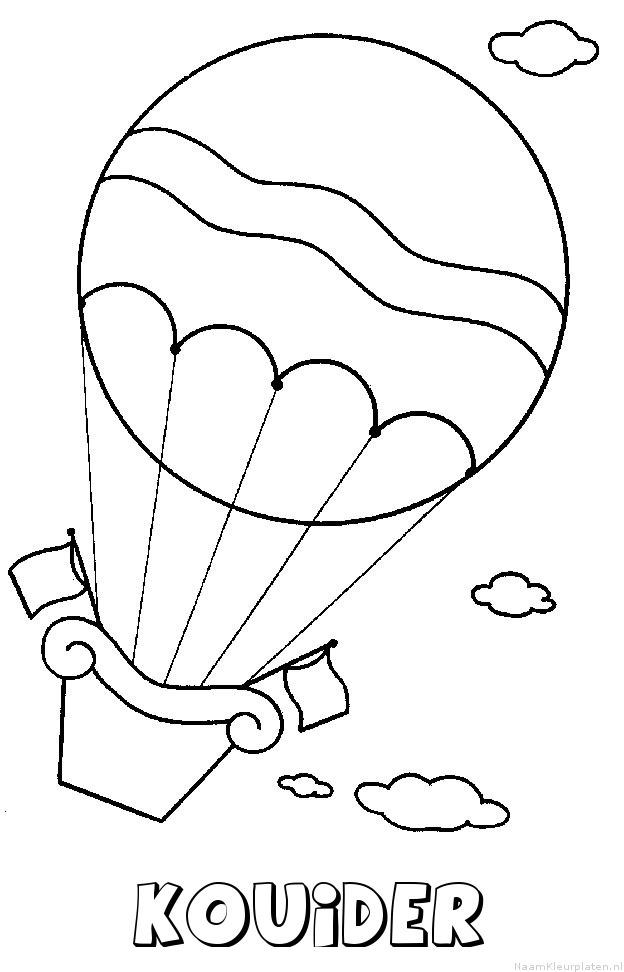 Kouider luchtballon kleurplaat