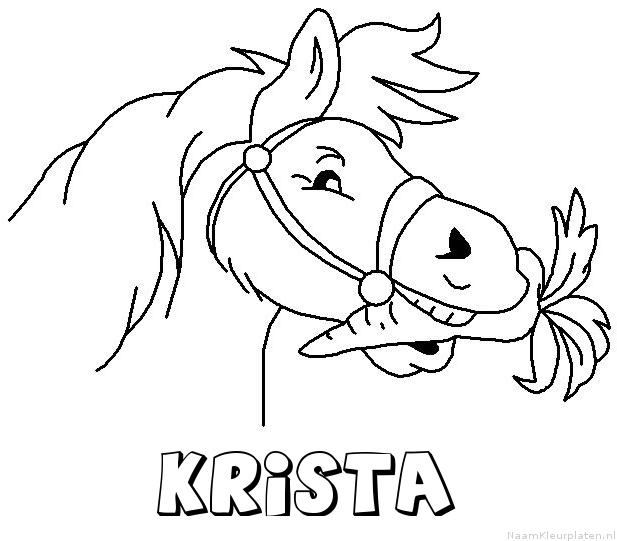 Krista paard van sinterklaas kleurplaat